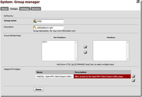 Groupe User Manager