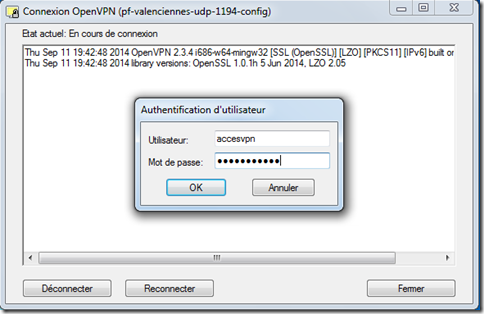Identification OpenVPN